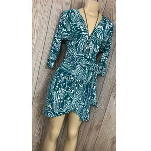 Marciano | Green Wrap Mini Dress
